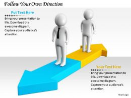 2413 Follow Your Own Direction Ppt Graphics Icons Powerpoint