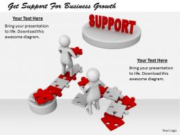 2413 Get Support For Business Growth Ppt Graphics Icons Powerpoint