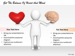 2413 Get The Balance Of Heart And Mind Ppt Graphics Icons Powerpoint