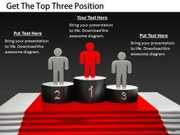 2413 Get The Top Three Position Ppt Graphics Icons Powerpoint