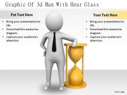2413 Graphic Of 3d Man With Hour Glass Ppt Graphics Icons Powerpoint