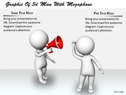 2413 Graphic Of 3d Man With Megaphone Ppt Graphics Icons Powerpoint