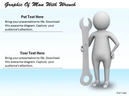 2413 Graphic Of Man With Wrench Ppt Graphics Icons Powerpoint
