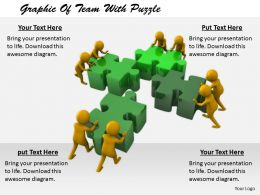 2413 Graphic Of Team With Puzzle Ppt Graphics Icons Powerpoint