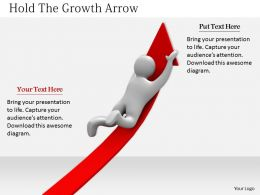 2413 Hold The Growth Arrow Ppt Graphics Icons Powerpoint