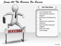 2413 Jump All The Barriers For Success Ppt Graphics Icons Powerpoint