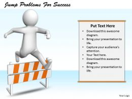2413 Jump Problems For Success Ppt Graphics Icons Powerpoint