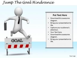 2413 Jump The Goal Hinderance Ppt Graphics Icons Powerpoint