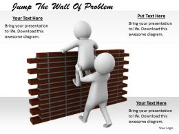 2413 Jump The Wall Of Problem Ppt Graphics Icons Powerpoint