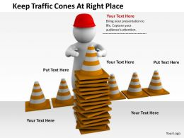 2413 Keep Traffic Cones At Right Place Ppt Graphics Icons Powerpoint