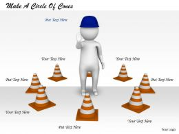2413 Make A Circle Of Cones Ppt Graphics Icons Powerpoint