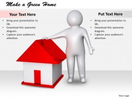 2413 Make A Green Home Ppt Graphics Icons Powerpoint