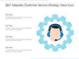 247 Telesales Customer Service Strategy Gear Icon
