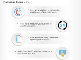 24 Hour Customer Support Data Management Record Ppt Icons Graphics