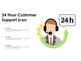 24 Hour Customer Support Icon