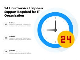 24 Hour Service Helpdesk Support Required For It Organization