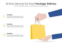 24 Hour Services For Food Package Delivery Infographic Template
