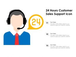 24 Hours Customer Sales Support Icon