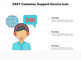 24x7 Customer Support Service Icon