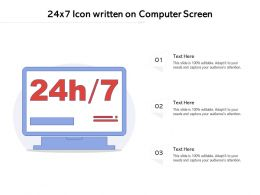 24x7 Icon Written On Computer Screen