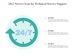 24x7 Service Icon For Technical Service Support