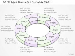 2502 Business Ppt Diagram 10 Staged Business Circular Chart Powerpoint Template