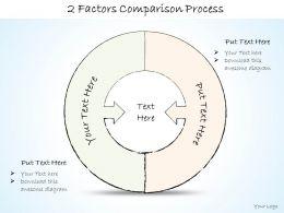 2502 Business Ppt Diagram 2 Factors Comparison Process Powerpoint Template