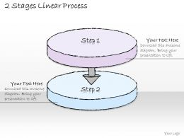 2502 Business Ppt Diagram 2 Stages Linear Process Powerpoint Template