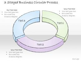 2502 Business Ppt Diagram 3 Staged Business Circular Process Powerpoint Template