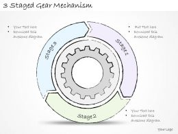 2502 Business Ppt Diagram 3 Staged Gear Mechanism Powerpoint Template