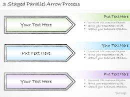 2502 Business Ppt Diagram 3 Staged Parallel Arrow Process Powerpoint Template
