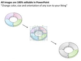 2502 Business Ppt Diagram 3d Circular Chart With 4 Stages Powerpoint Template