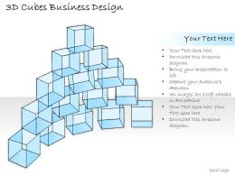 2502 Business Ppt Diagram 3d Cubes Business Design Powerpoint Template