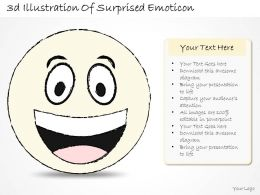2502 Business Ppt Diagram 3d Illustration Of Surprised Emoticon Powerpoint Template