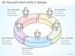 2502 Business Ppt Diagram 3d Round Chart With 5 Stages Powerpoint Template