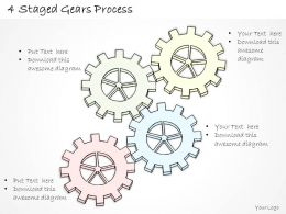 2502 Business Ppt Diagram 4 Staged Gears Process Powerpoint Template