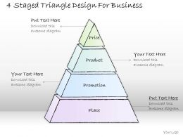2502 Business Ppt Diagram 4 Staged Triangle Design For Business Powerpoint Template