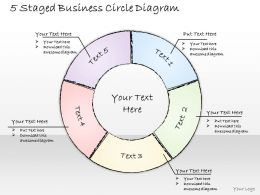 2502 Business Ppt Diagram 5 Staged Business Circle Diagram Powerpoint Template