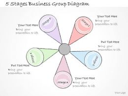 2502 Business Ppt Diagram 5 Stages Business Group Diagram Powerpoint Template