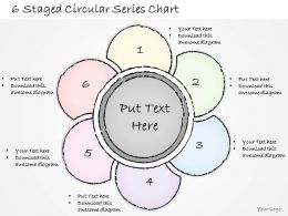 2502 Business Ppt Diagram 6 Staged Circular Series Chart Powerpoint Template