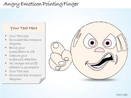 2502 Business Ppt Diagram Angry Emoticon Pointing Finger Powerpoint Template