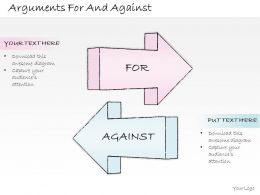 2502 Business Ppt Diagram Arguments For And Against Powerpoint Template