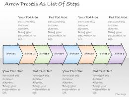 2502 Business Ppt Diagram Arrow Process As List Of Steps Powerpoint Template