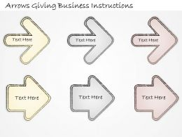 2502 Business Ppt Diagram Arrows Giving Business Instructions Powerpoint Template