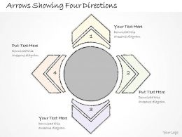 2502 Business Ppt Diagram Arrows Showing Four Directions Powerpoint Template