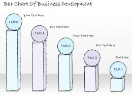 2502 Business Ppt Diagram Bar Chart Of Business Development Powerpoint Template