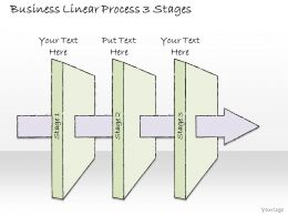 2502 Business Ppt Diagram Business Linear Process 3 Stages Powerpoint Template
