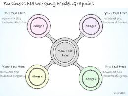 2502 Business Ppt Diagram Business Networking Model Graphics Powerpoint Template