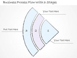 2502 Business Ppt Diagram Business Process Flow With 3 Stages Powerpoint Template