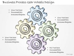 2502 Business Ppt Diagram Business Process Gear Wheels Design Powerpoint Template
